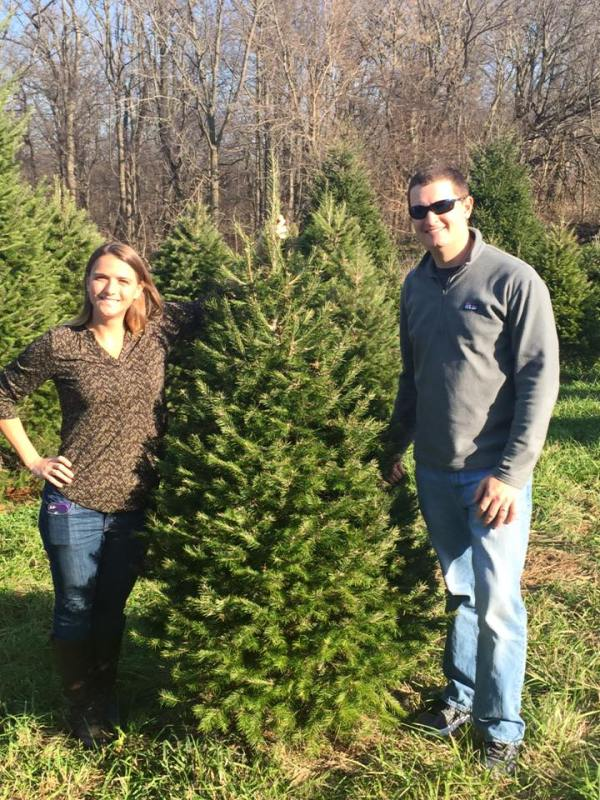 Brian, me, and our tree!
